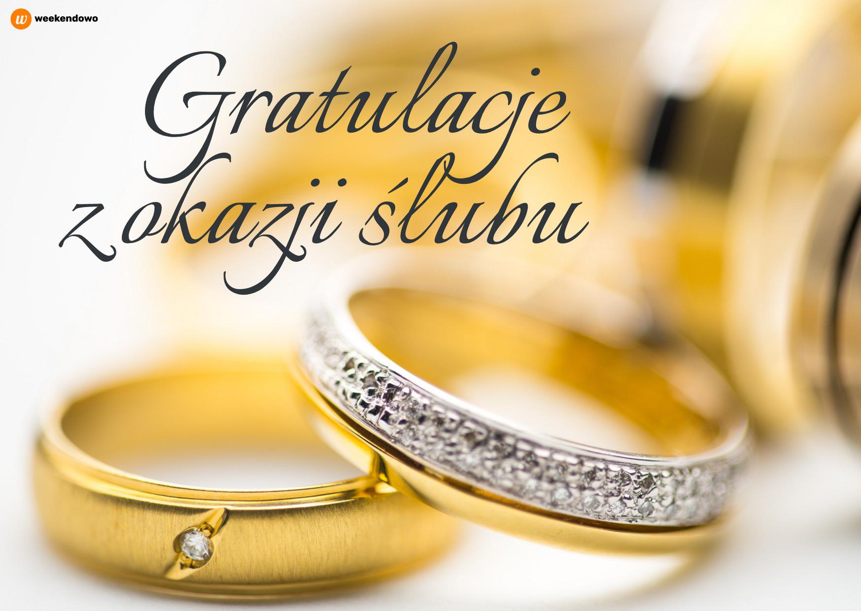 Gratulacje z okazji ślubu kartka