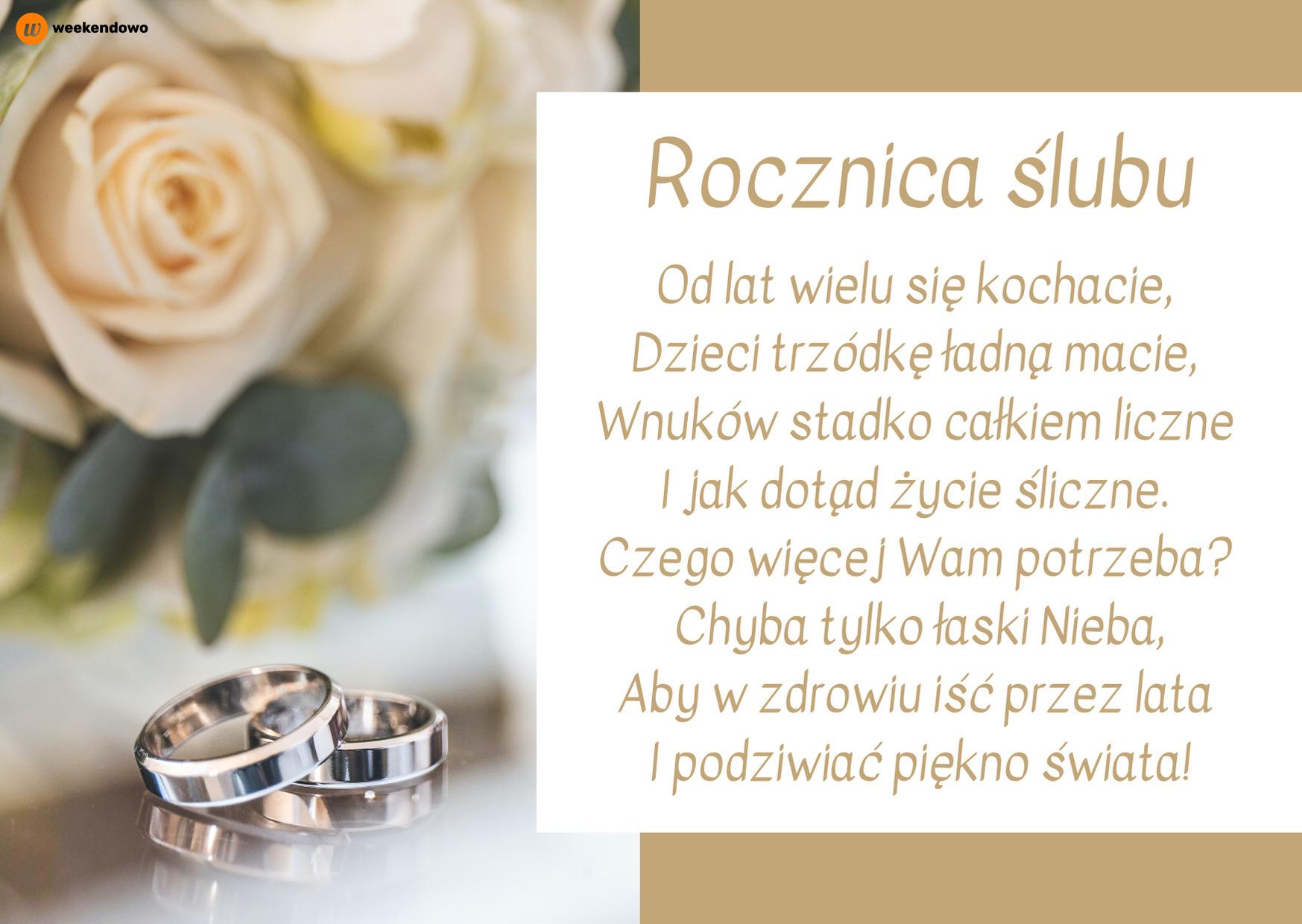 Kartka z życzeniami na rocznicę ślubu