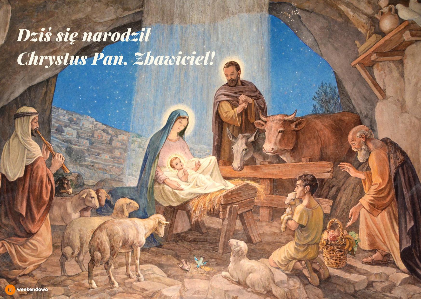 Religijna kartka bożonarodzeniowa
