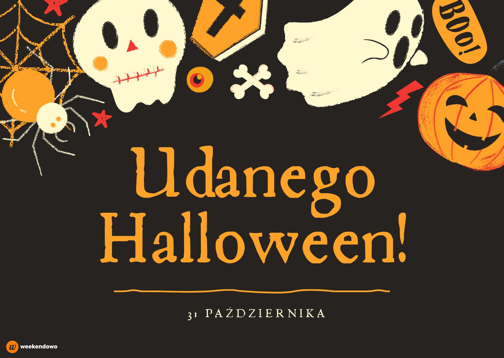 Udanego Halloween kartka