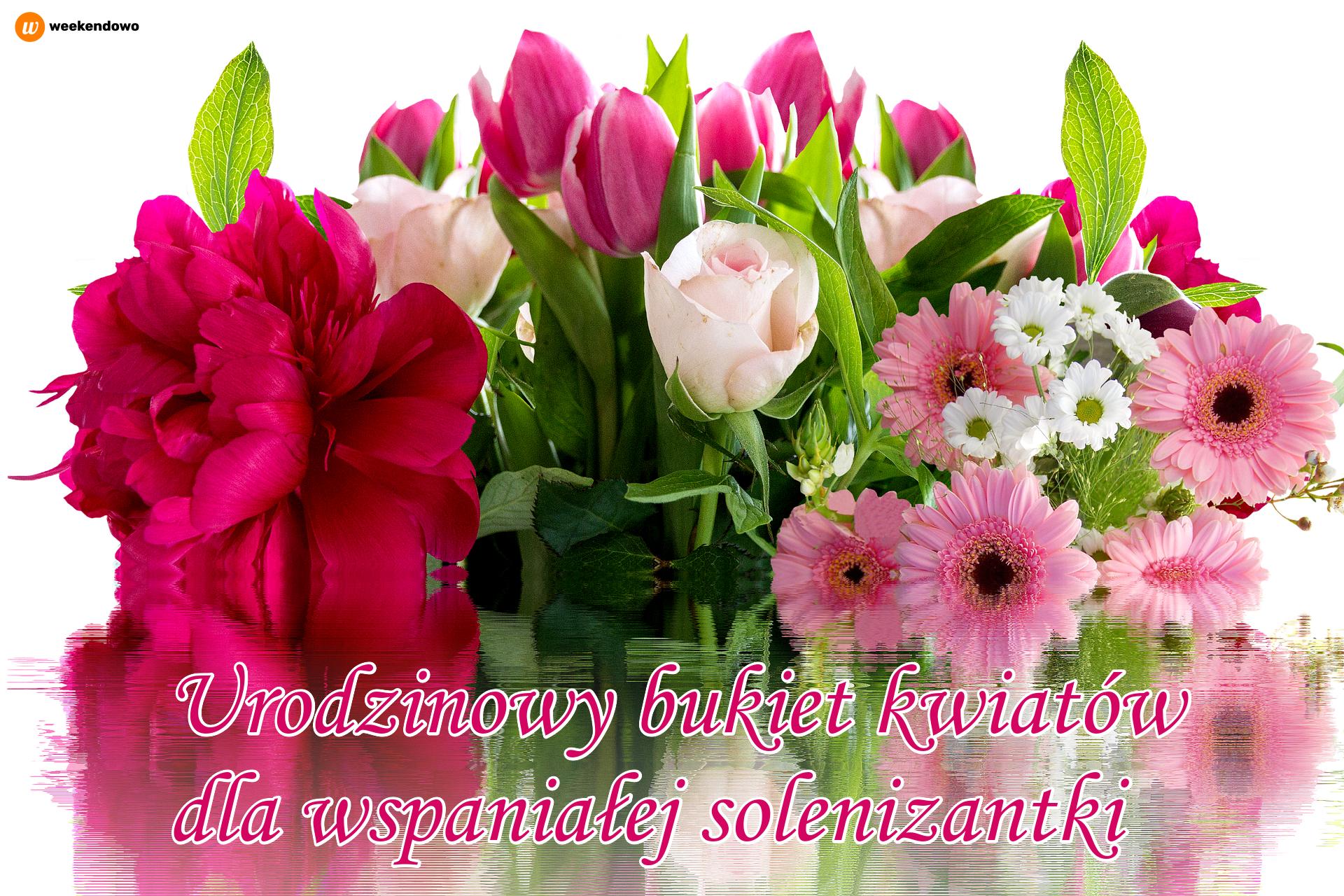 Urodzinowy bukiet kwiatów kartka