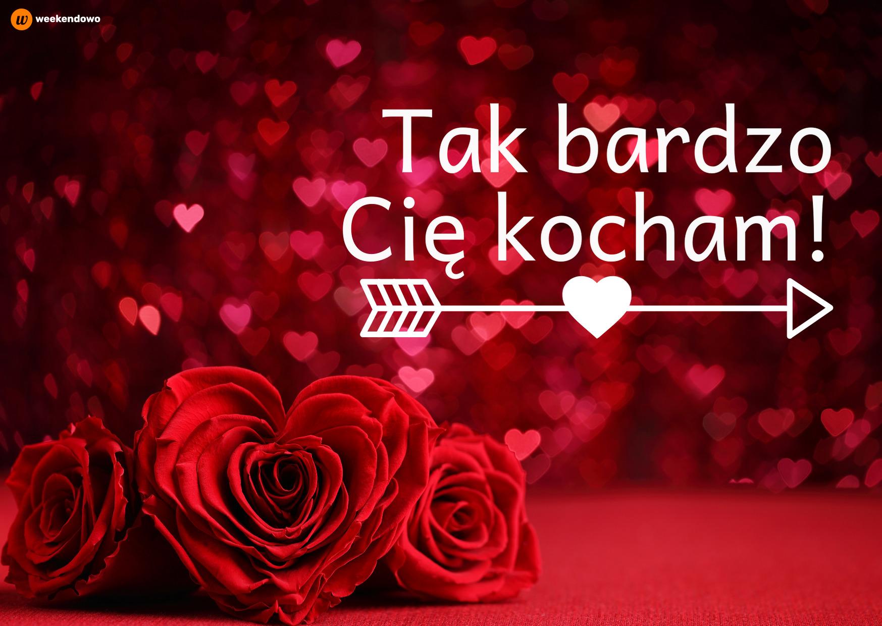 Walentynkowa kartka z różami