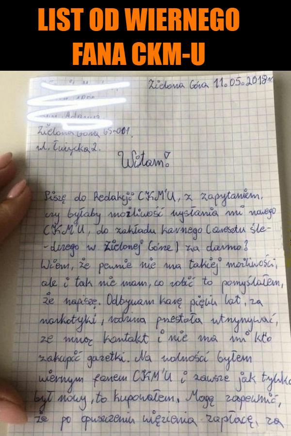 List od wiernego fana