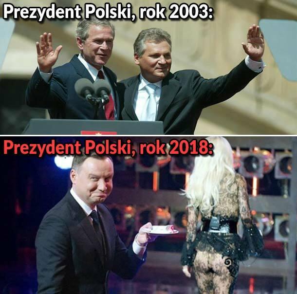 Prezydent kiedyś i dziś :D