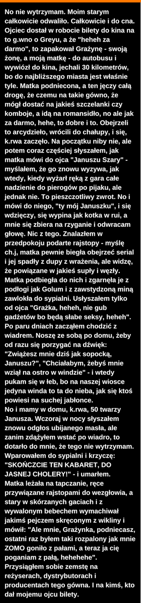 50 twarzy Janusza :D