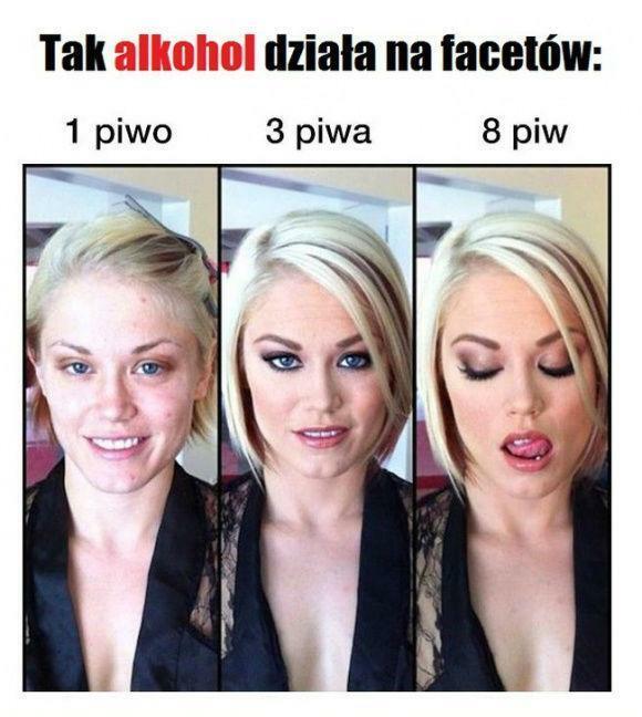 Tak alkohol działa na facetów