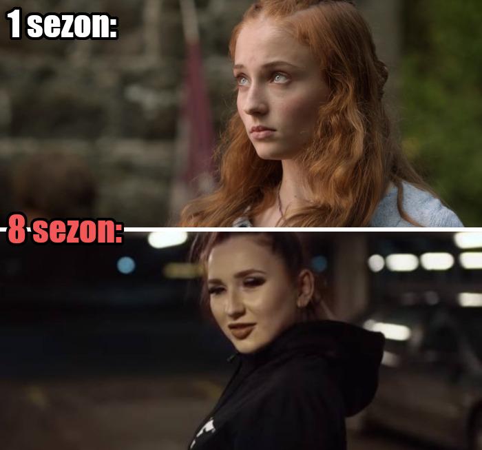 Ewolucja Sansy Stark