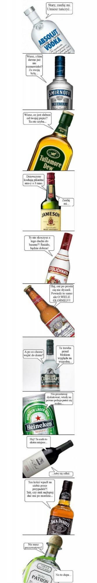 Alkohol prawdę powie :D