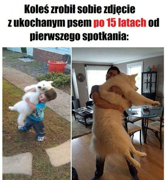 Zdjęcie z ukochanym psem