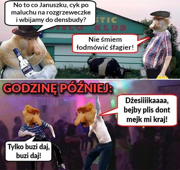 Janusz w densbudzie :O