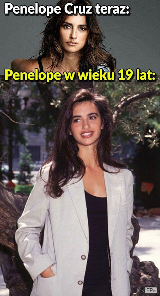 Penelope Cruz kiedyś i dziś <3