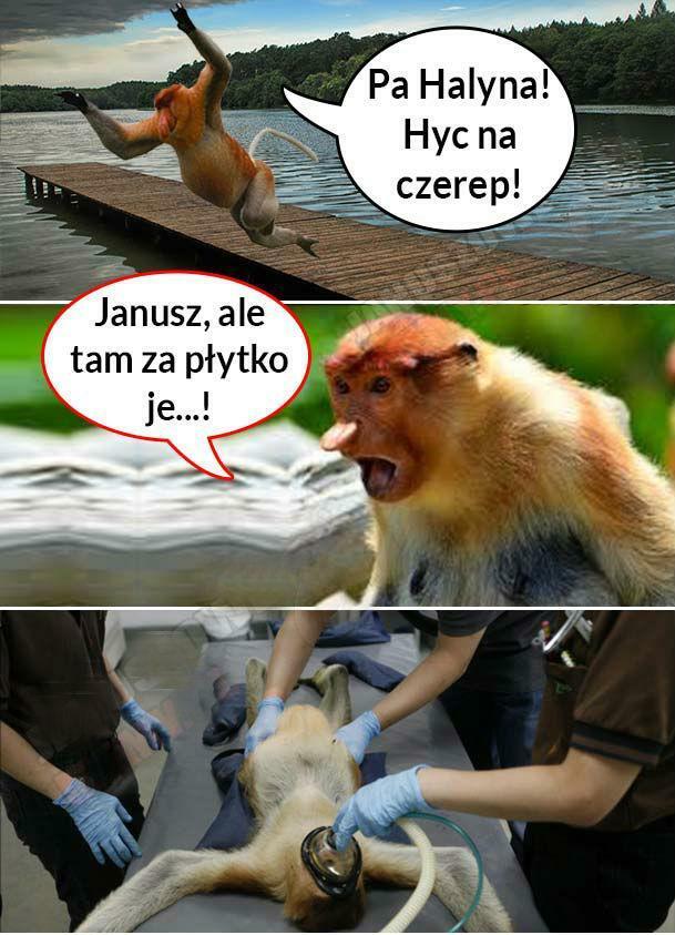Janusz nad jeziorem :D