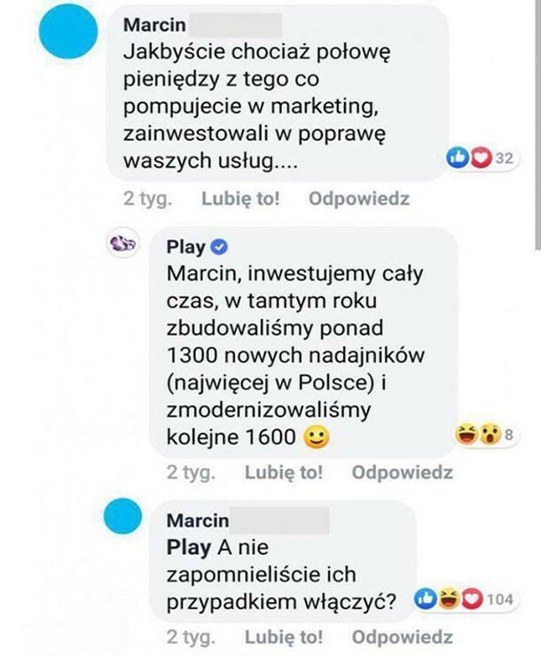 Poprawa usług Play