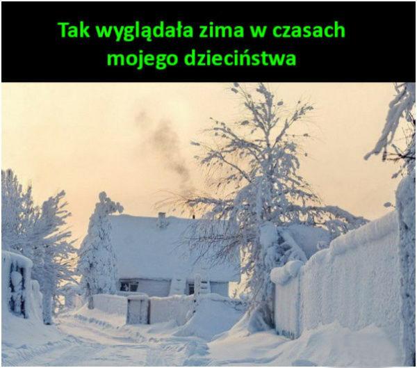 Zima kiedyś <3