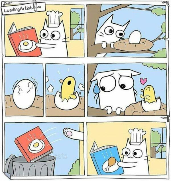 Kotek i jajeczko