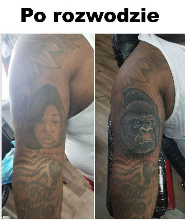 Tatuaż po rozwodzie :D