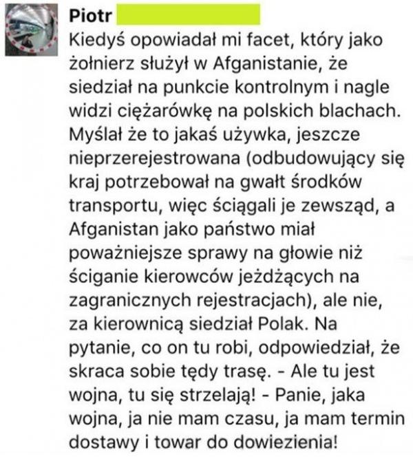 HIT! Polski kierowca ciężarówki w Afganistanie