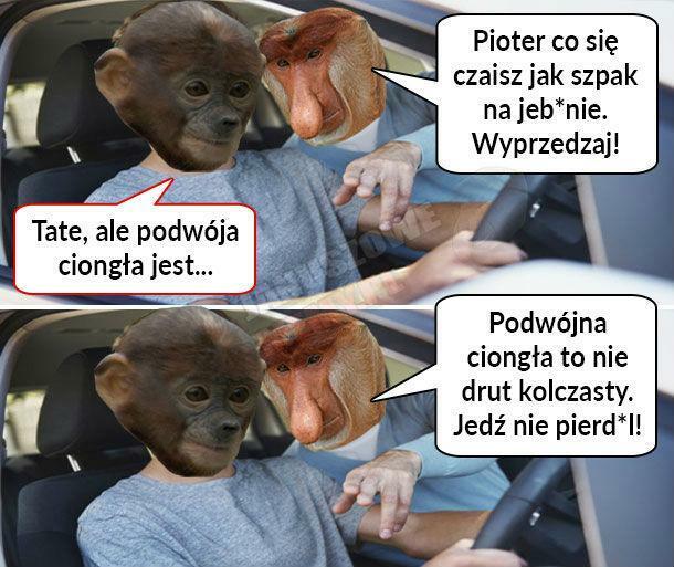 Kodeks drogowy według Janusza :D
