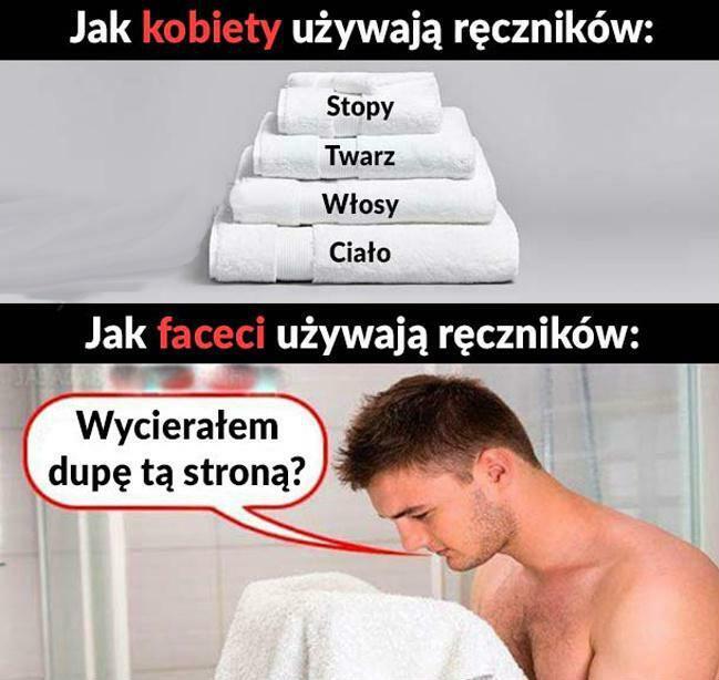Tak faceci używają ręczników :D