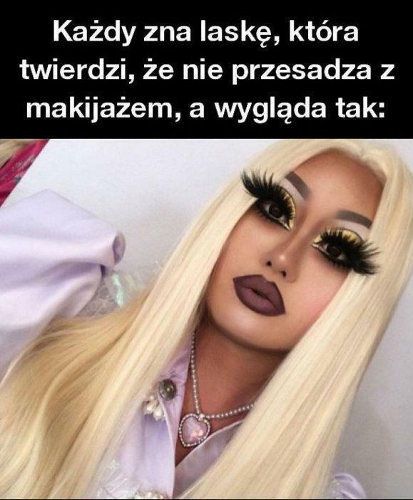 Przesadzony makijaż