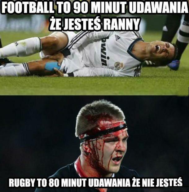 Różnica między piłką nożną a rugby