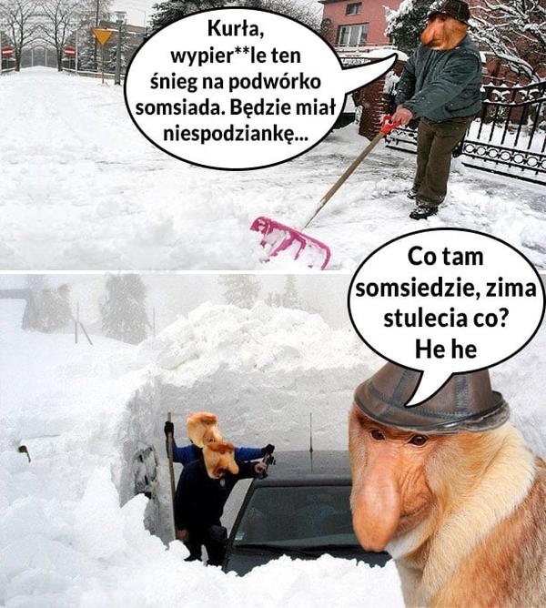 Zima z sąsiadami :D
