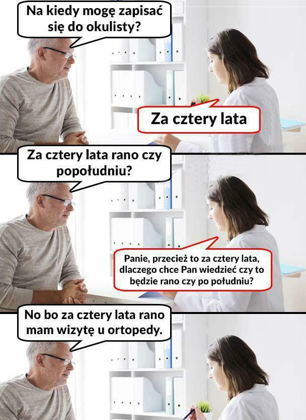 Wolne terminy u lekarza