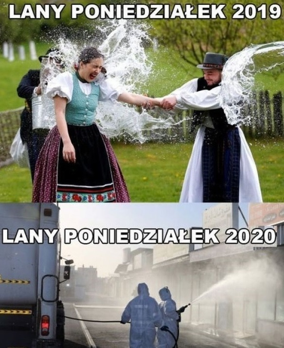 Lany poniedziałek 2019 vs 2020