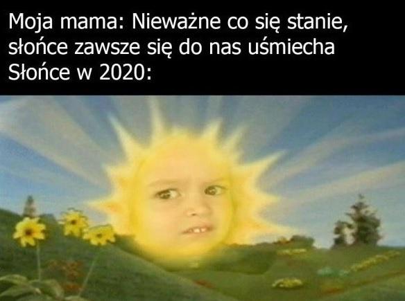 Słońce w 2020 r. :D