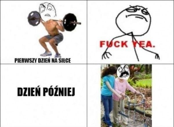 Trening na siłowni :D