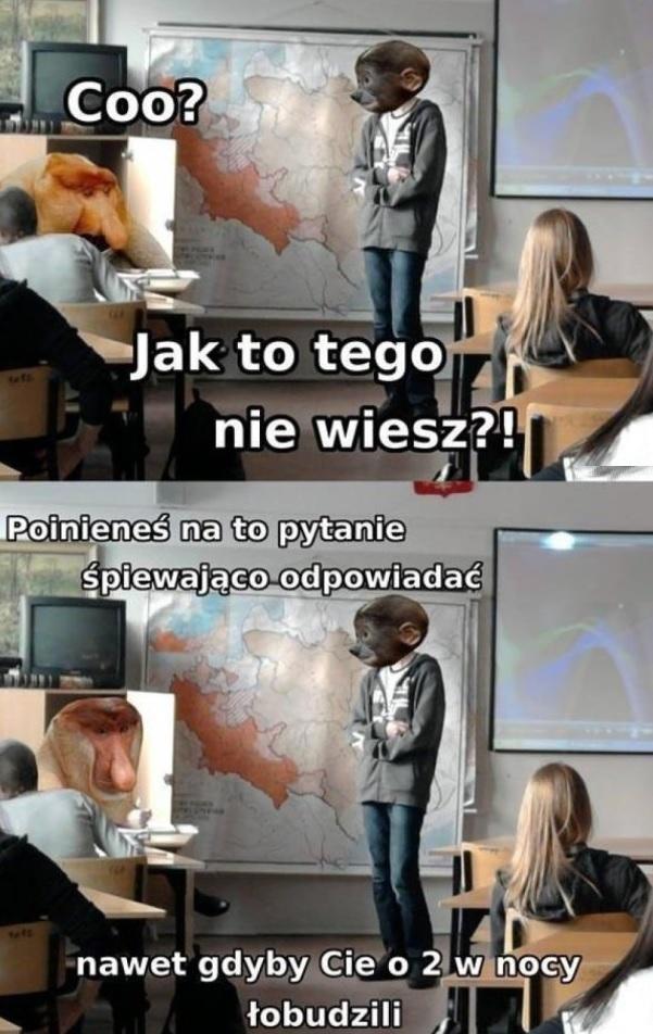 Typowa lekcja w szkole :D