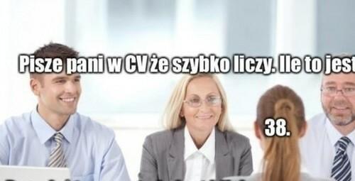 CV vs rozmowa o pracę :D