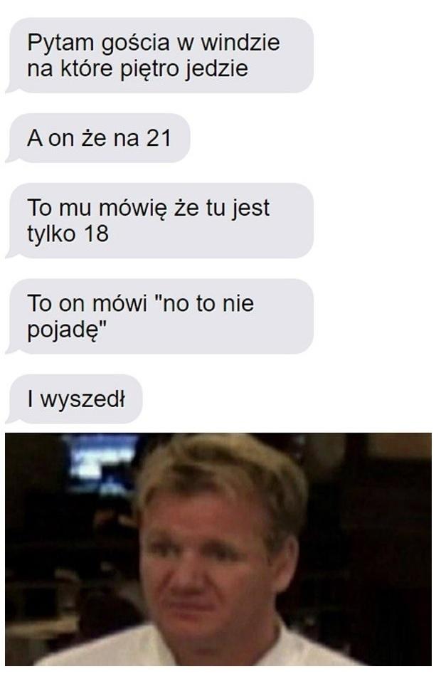 Dziwna rozmowa w windzie :D