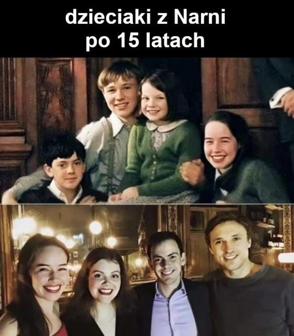 Dzieciaki z Narnii po 15 latach :D