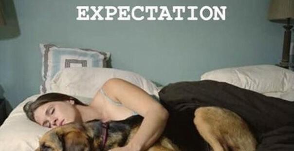 Spanie ze zwierzakiem :D