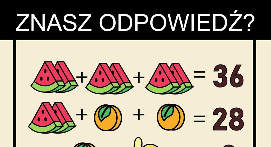 Zagadka matematyczna dla bystrych. Uda Ci się rozwiązać?