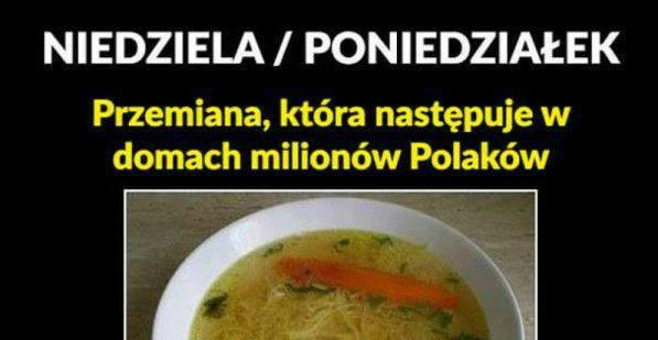A w poniedziałek w każdym polskim domu...