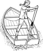 Dziewczynka na łódce