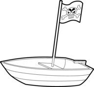 Łódka piracka