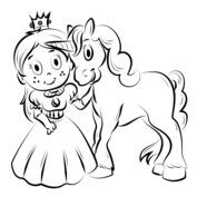 Jednorożec z księżniczką
