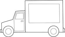 Ciężarówka szablon