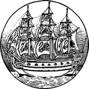 Statek w ramce