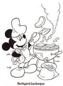 Grillująca Myszka Miki