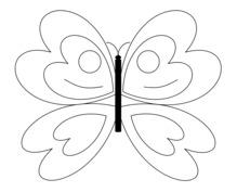 Motyl szablon