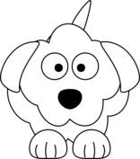 Kreskówkowy pies