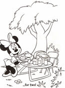 Myszka Minnie i piknik