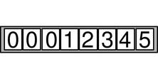 Cyfry na liczniku