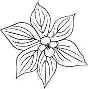 Liść z kwiatkiem