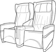 Samolot siedzenia