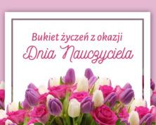 Kwiaty dla nauczycielki kartka